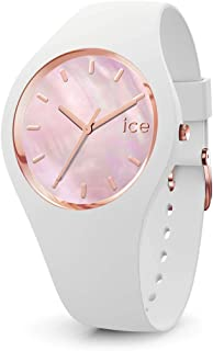 Ice-Watch - Ice Pearl White Pink - Montre Blanche pour Femme avec Bracelet en Silicone - 017126 (Medium)