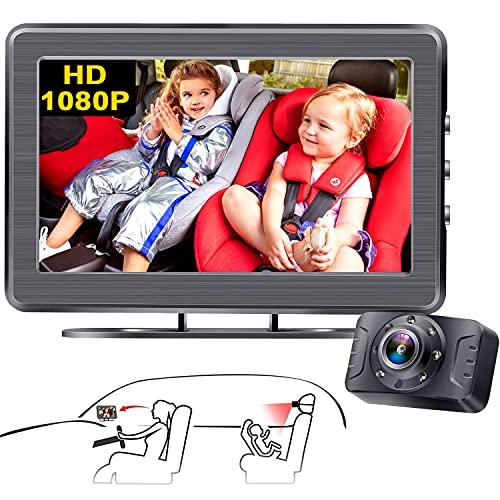 아기 자동차 미러 카메라 AMTIFO HD 1080P 안전 후면 넓은 맑은 맑은 뷰 카메라가있는 자동차 시트 미러가 운전하는 동안 언제든지 아기를 관찰합니다 - A3