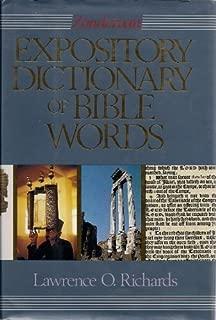 Zondervan Expository Dictionary of Bible Words