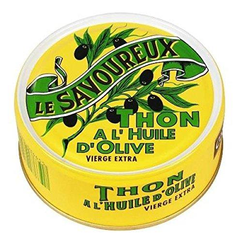 © tavolo Conna gustoso tonno yellowfin in olio extravergine di oliva 1/5 160g - ( Prezzo unitario ) - Connétable le savoureux thon albacore à l'huile d'olive vierge extra 1/5 160g