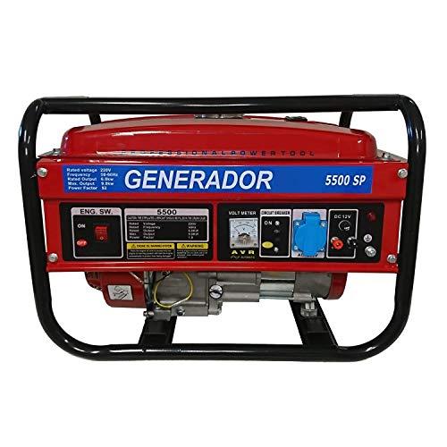 Generador eléctrico gasolina monofásico Potencia garantizada, corriente hasta 3000W en monofásico a 220V