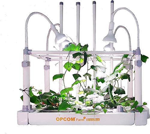OPCOM Farm GrowBox - All-in-One 59 Pot Hydroponic Growing System - Tabletop Indoor Garden - Stackable Grow Box With Growth Starter Kit