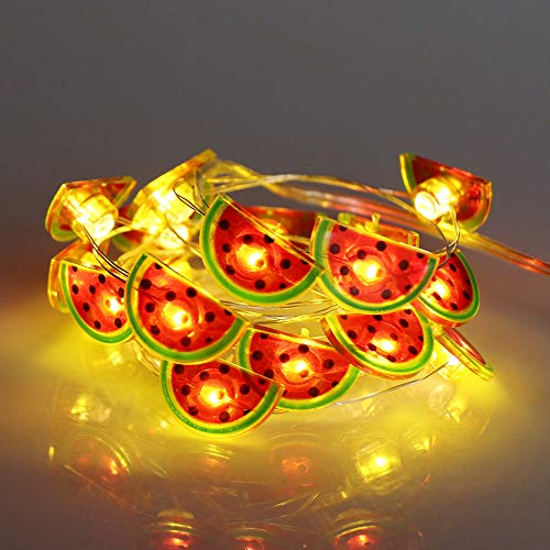 GUOCHENG 20leds Watermelon Accessories Copper String Lights Micro Twinkle Firefly String Lights Starry String Mood Night Lighting for Holiday Party Kids Bedroom Decor(Watermelon)