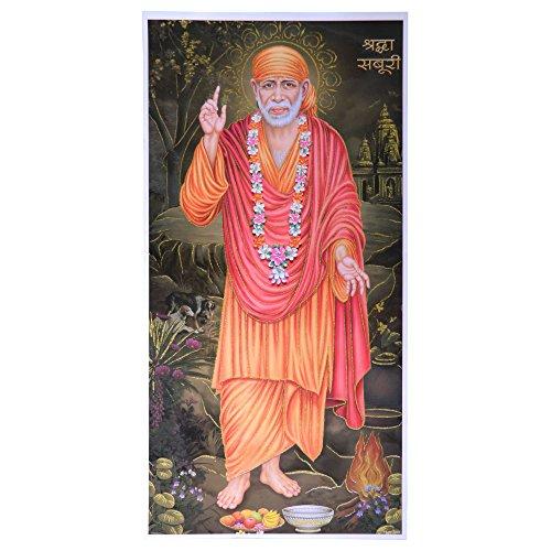 Stampa Sai Baba Santo Padre 100x50cm stampa su carta accessori decorazione casa