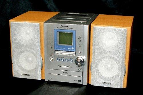 Panasonic パナソニック SC-PM47MD-S シルバー ミニコンポMD付 (CD/MD/カセットコンポ)(本体SA-PM47MDとスピーカーSB-PM47MDのセット)