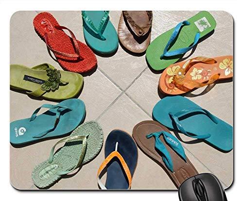 Mauspad - Flip Flops Mehrfarbiges Sommer Flip-Flop Blau