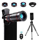 Crenova Handy Objektiv Kamera Linse Kit 22x Zoom Teleobjektiv, 235°...