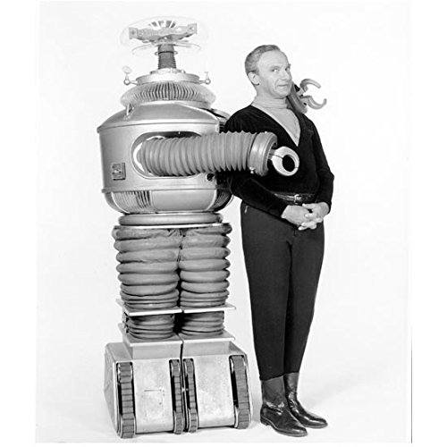 Lost in Space Johathan Harris as Dr. Zachary Smith with The Robot 8 X 10 Inch Photo