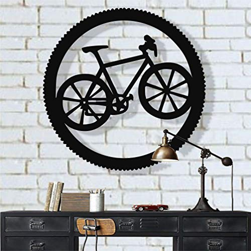 Metal Bike Wall Art, Cyclist Gift, Biker Art, Bicycle Wall Art, Metal Wall Decor, Home Office Decoration, Bedroom Living Room Decor, Housewarming Gift (28'W x 28'H / 71x71 cm)