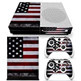 DAPANZ USA Flag Skin Sticker Vinyl Decal Cover for Xbox One S Console + 2 Controllers