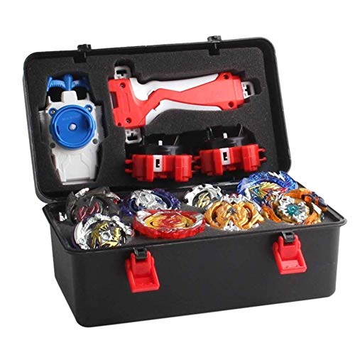 Acant 12 Pieces / Set Battle Tops Case Toy, Multiplayer Bursting Gyroscope Durable Portable Storage Box Launcher Suitcase Gift