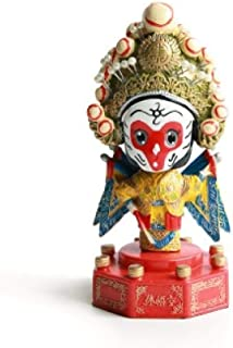 Home Decoration Beijing Opera Drama Decorations Face Decoration Doll Crafts Shaking Head Dolls Crafts-Zhuge Liang