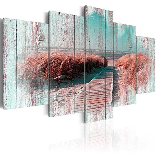 murando Cuadro en Lienzo Playa Mar 200x100 cm Impresión de 5 Piezas Material Tejido no Tejido Impresión Artística Imagen Gráfica Decoracion de Pared Paisaje Naturaleza c-C-0029-b-p