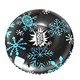 ErYao Snow Tube for Winter Fun Inflatable Snow Sled 47 Inch Huge Heavy Duty Snow...