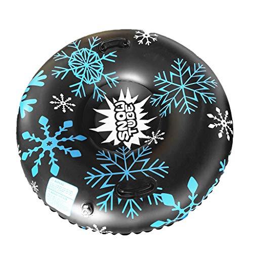 fajwskjw Snow Tube, tragbare runde aufblasbare Skiringe Schneeschlitten Winter Toy Skiing Tool, schwere aufblasbare Snow Tube für Kinder und Erwachsene Geschenke für Männer