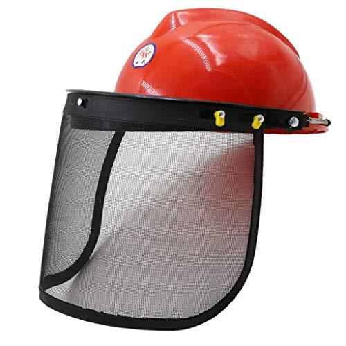 Amagogo Protector de Cabeza de Máscara de Casco de Protección Facial de Motosierra con Visera de Malla para Recortar 🔥