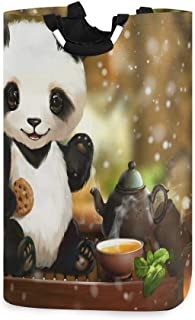 N\A Panier à Linge, Animal Mignon Panda thé paniers de Rangement de Linge vêtements Pliables Sac Organisateur de Jouets po...