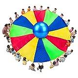 Paracadute Gioco Gioco di Paracadute Arcobaleno, Giocattoli Educativi per La Scuola Materna, Gioco da Giardino All'aperto (Size : 10m)