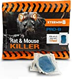 Racan Force Paste - Xtermin8 Pro B - Powerful Rat Mouse Poison Bait Killer - Blue Pasta Block - 15 Brodifacoum UK Strongest Strength blocks that kills rats mice with 1 single feed.