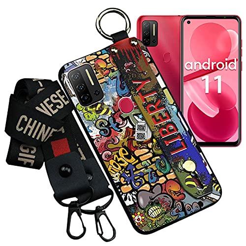 LYJERRY Funda para Ulefone Note 11P Shockproof Carcasa Ligero Protector Suave TPU Cover Silicona con Cordón Phone Case - Pintada-04