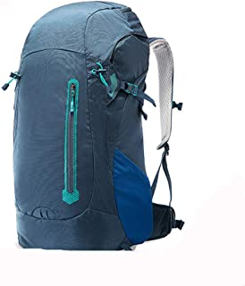 Rjj Outdoor Sports Backpack 45L Large-Capacity Hiking Bag, Multi-Functional Exquisite Backpack Exquisite (Color : Blue)