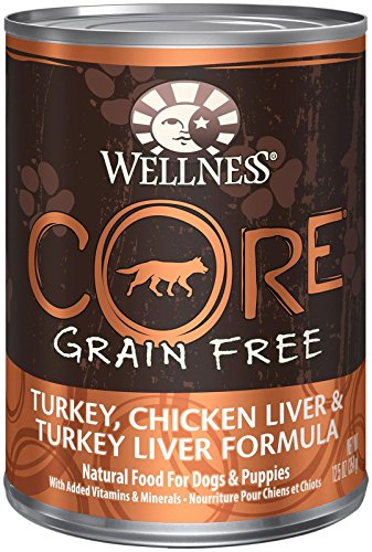 Wellness Core Grain Free - Turkey, Chicken Liver & Turkey Liver - 12 X 12.5 Oz