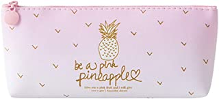 Clearance Sale!DEESEE(TM)💚💚Pink Pineapple Pencil Case Cosmetic Bag Makeup Pouch Pencils Box (A)