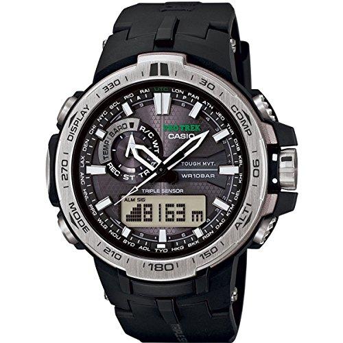 Casio Pro Trek Pro Trek - Reloj de Cuarzo para Hombre, con Correa de plástico, Color Negro