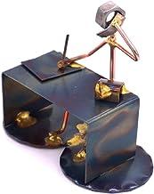 Boss Man with Phone Collectible Handmade Metal Art Figurine, Desk Accessories, Trophy, Boss Gift, Office Décor