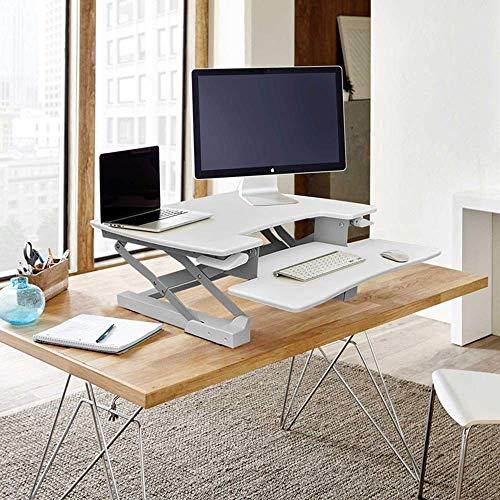 Mesas de decoración de muebles Mesas de centro blancas Mesas auxiliares Mesa para laptop Lapdesks Escritorio de pie ajustable en altura Estación de trabajo de sobremesa Se adapta a dos monitores pa
