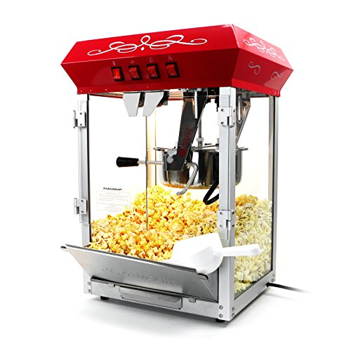 Best Prices! Paramount 8oz Popcorn Maker Machine - New Upgraded Feature-Rich 8 oz Hot Oil Popper [Co...