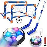 Tacobear Fútbol Niños Juguetes Recargable Flotante Balón de Fútbol Pelota de Aire con Luces LED Hover Hockey Interior Exterior Juegos para Niño 3 4 5 6 7 8 9 10 11 12 Años Regalos Cumpleaños