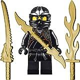 LEGO Ninjago - Mini personaggio Cole ZX con armi e spalle