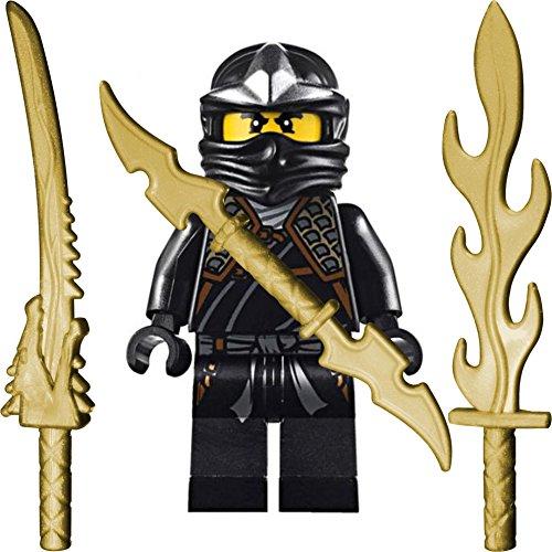 LEGO Ninjago - Figura de Cole ZX con armadura de hombro y armas