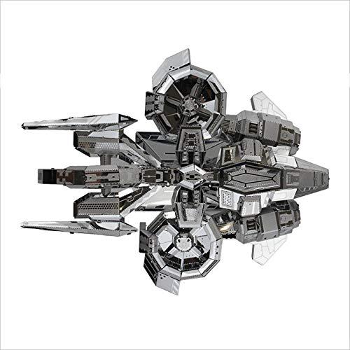 Metal 3D Puzzle, Starcraft Terraner Banshee Maqueta Metalica DIY Monta Kits de Edificio Modelo Laser Cut Jigsaw Toy, Kit Maquetas para Construir Adultos/Adolescente, 180 x 130 x 90 mm