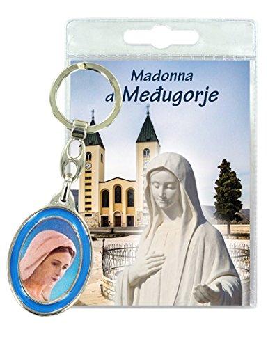 Ferrari & Arrighetti Llavero Virgen de Medjugorje con oración en italiano