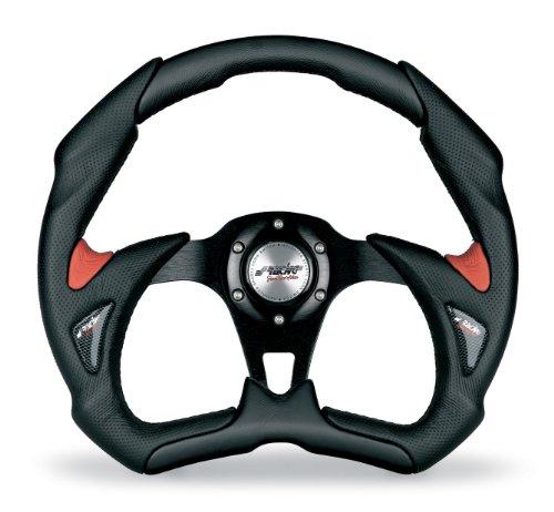 Simoni Racing X5350PUN/PR volante deportivo, negro y rojo