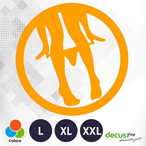 Decus Panty Dropper // sticker OEM JDM Style sticker oranje