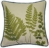 McAlister Textiles Tapestry | Besticktes Zierkissen mit Füllung grüne Farne | 40 x 40cm Größe |...