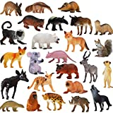Tierfiguren, 25 Stück Realistisch aussehende Tiere Spielzeug Set (4 Zoll), ValeforToy Jungle Wilde Vinyl Plastiktiere Lernspielzeuge für Jungen Mädchen Kinder Kleinkinder Waldtiere Spielzeuge Party