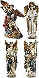 Archangel Saint St Michael Gabriel Uriel Raphael Figurines 4 Piece Statue SET Chapel Decoration