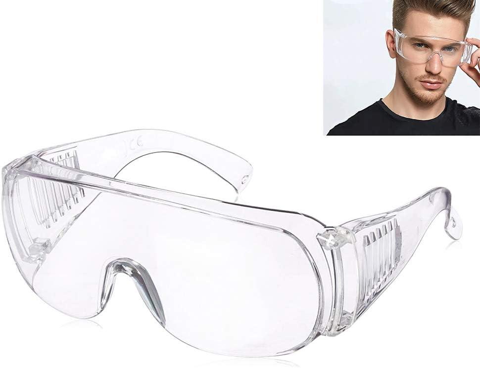 Gafas de seguridad transparentes Gafas antivaho con lente resistente a los impactos, a prueba de arañazos Gafas de seguridad a prueba de polvo para laboratorio de construcción Protección ocular