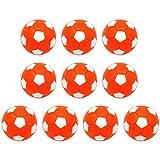 IYSHOUGONG 10 futbolines de futbol de mesa, mini pelotas de futbol de mesa de 32 mm, reemplazo de balones de futbol de mesa, pelotas oficiales de mesa, color naranja y blanco