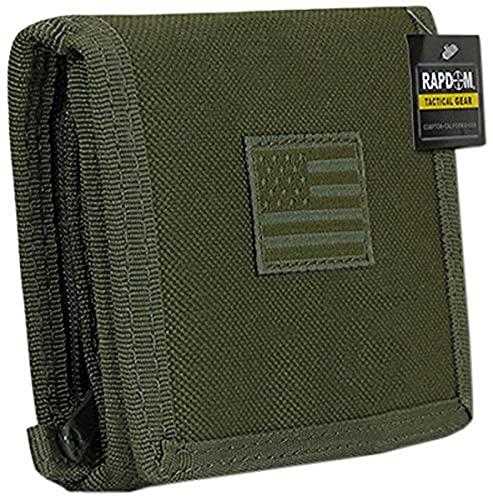 """Rapdom Tactical RAPDOM Tactical Wallet, Olive Drab , 4.75"""" x 3.5"""" x .75"""""""