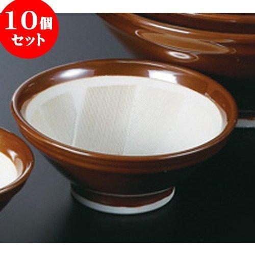 10個セットスリ鉢(駄知) 6.0 [ 18 x 7.4cm 565g ] 【 すり鉢 】 【 料亭 旅館 和食器 飲食店 業務用 】