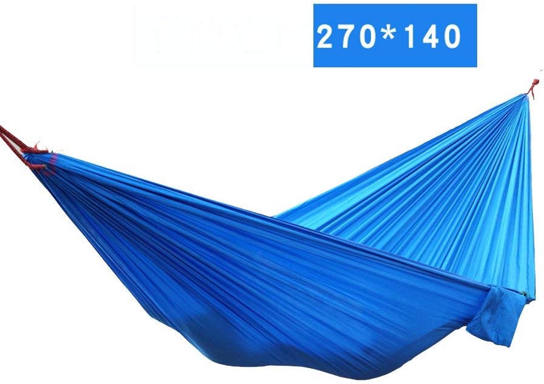 nuevo sádico Ligero Ocio Hamaca,Aire Libre Hamaca Hamaca Hamaca de Nylon del paracaídas Solo Doble Terraza Hacen pivotar la Cama,Secado rápido,C  compras de moda online
