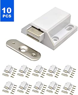 Magnetic Latches 10pcs Heavy Duty Magnetic Catch Push to Open Magnetic Pressure Touch Release for Home Furniture Cabinet Door Cupboard