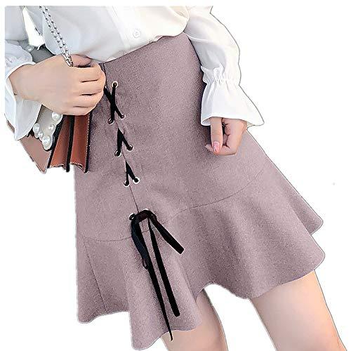 Falda corta para mujer estilo occidental estilo de verano con cola de...