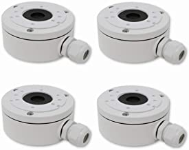 DS-1280ZJ-XS Aluminum Bracket Junction Back Box for Hikvision DS-2CD2042WD-I, 2CD20xx Series Bullet Cameras (4 Pack)