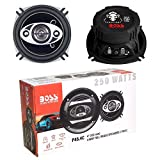 2 Altavoces Compatible con Boss Audio Systems PHANTOM Series P45.4C coaxial 4 vías 10,00 cm 4' 125 vatios rms 250 vatios máx 93 db 4 ohmios suspensión de Goma, un par
